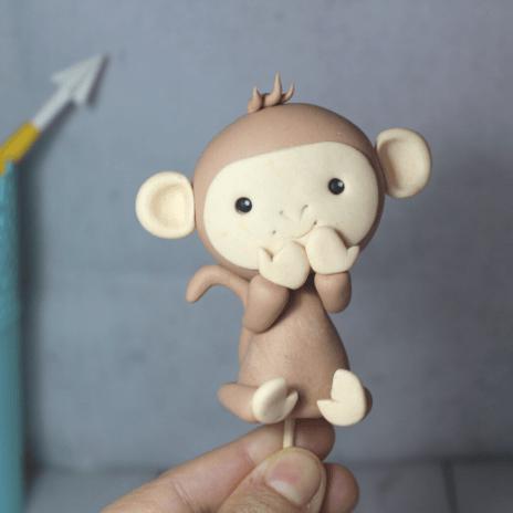 tutorial mono fondant Monkey tutorial