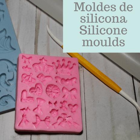 como usar molder de silicona con fondant How to use silicone moulds with fondant